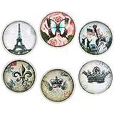 Morella donna Click-button Set da viaggio romantico 6 Click Buttons colori decisi