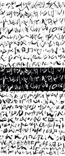 Eurographics DH-DT2023 Deco Home Raumteiler Hieroglyphic / Schiebevorhang / 100 x 240 cm, lichtdurchlässig
