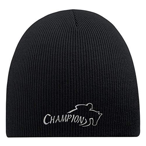Fan-O-Menal beanie-muts met borduursel - Springreiter Champion - 54820 zwart
