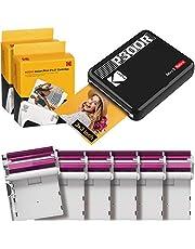 Kodak P300R Mini 3, Mini Impresora Fotos + 68 Fotos, Fotos Cuadradas Tamaño 76X76Mm, Conexión Inalámbrica Bluetooth, Compatible con Smartphones iOS Y Android - Negro