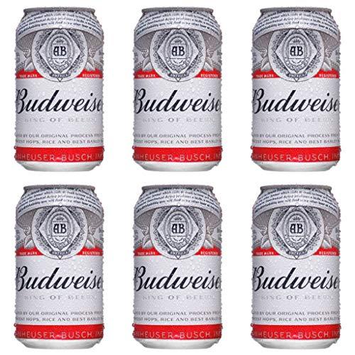 Budweiser Amerikanisches Bier 5.0% Alkohol. (Pack 12 Dosen x 330ml) bier geschenk, biere der welt, bier set, budweiser bier, geschenk set, geschenke für männer, höhle der löwen produkte