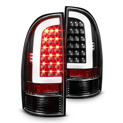 Xtune 2005-2015 Tacoma Black Housing Fiber-Optic Light-Tube LED Tail Lights