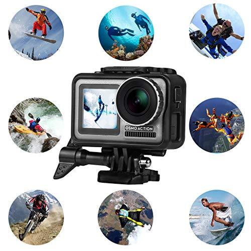 MMLC Schutzgehäuse Kameraschutzrand Premium Aluminium Schutzrahmen Gehäuse Case Shell für DJI OSMO Action Kamera (Schwarz)