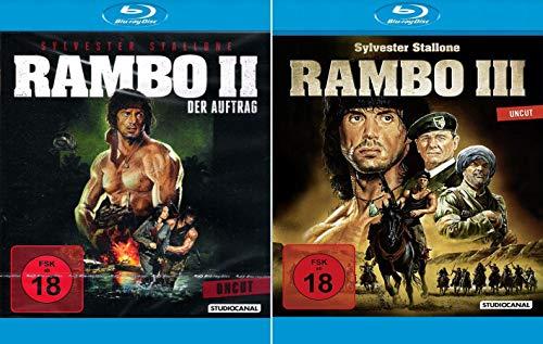 Rambo 2 - Der Auftrag, Uncut + Rambo 3, Uncut [2er Blu-ray-Set]