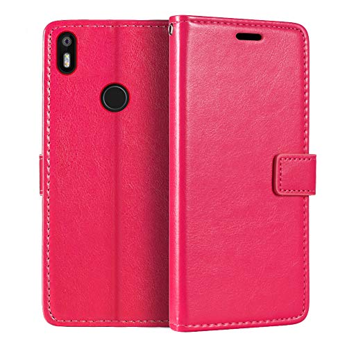 BQ Aquaris X Wallet Case, Premium PU Leather Magnetic Flip Case Cover with Card Holder and Kickstand for BQ Aquaris X Pro
