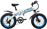 XXCY S9 Bicicleta Eléctrica Plegable 20 Pulgadas 500w 48v 10ah Batería Desmontable City Commuter Bike Electric Mountain Snow Travel Bike (Azul)