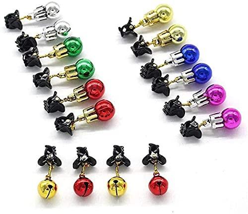 JYHZ Decoraciones navideñas, 12 Piezas/Set de Luces de Barba de Navidad, Decoraciones de Vacaciones Coloridas