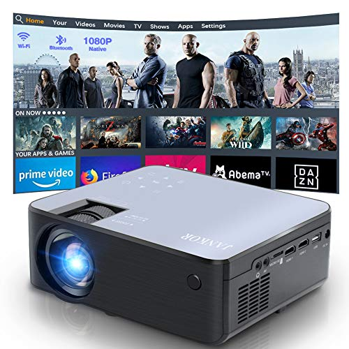 Mini 1080P HD Projector, Bluetooth Projector, WiFi Projector Compatible with Fire Stick/Roku, 6800 Lumen 200' Support HDMI, VGA, Android/ iPhone/ Laptops Portable for Home Movie Outdoor【2020 Upgrade】