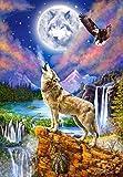 Castorland Wolf's Night Puzzle - Rompecabezas (Puzzle Rompecabezas, Arte, Niños y Adultos, Lobo, Niño/niña, 9 año(s))