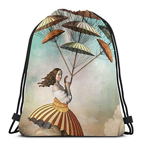 WH-CLA Drawstring Backpack Eisbock Bier M-Onster Kordelzug Taschen Männer Kordelzug Rucksäcke Outdoor Casual Print Frauen Einzigartige Aufbewahrung Cinch Taschen Leichte Strandtasche Für
