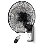 43CM Ventilatore da Parete Oscillante Ventilatori Oscillazione Silenzioso 3 velocità con...