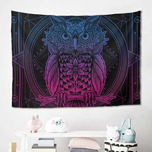 Homedb Wandbehang Wandtuch Tapestry Tarot Mandala Tier Eule Picknickdecke Stranddecken Tisch Couch Abdeckung Kinderzimmer Polster Decke White 200x150cm