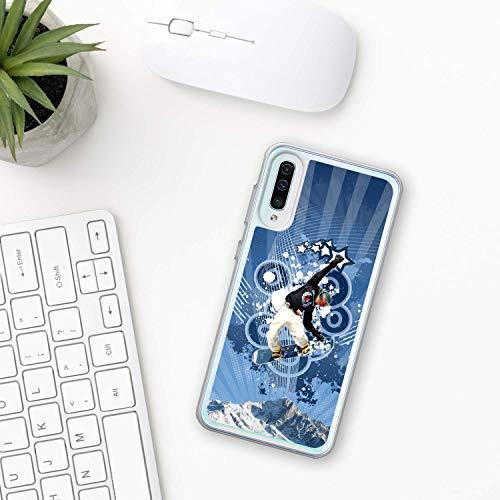 Snowboarden Hülle Samsung Galaxy Case A10 A20 A30 A40 A50 A70 M10 M20 M30 2019 Plastik Silikon phone case snowboarder freestyle board winter Schnee sport