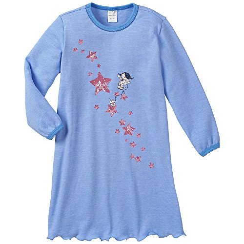 Schiesser Mädchen 1/1 Nachthemd, Blau (blau 800), (Herstellergröße: 128)