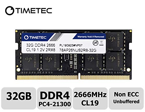 Timetec Hynix IC Compatible with Apple DDR4 2666MHz PC4-21300 SODIMM Memory Upgrade for Mac Mini 8,1 Late 2018 and iMac 19,1 w/Retina 5K 27-inch Early 2019 (32GB)