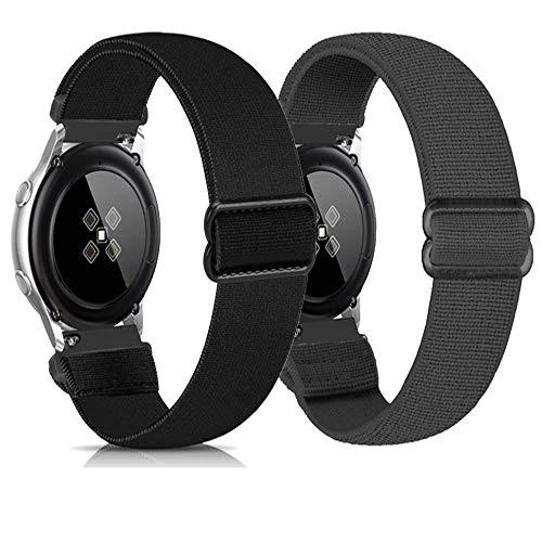 Zoholl Correas deportivas compatibles con Samsung Galaxy Watch 46 mm/Gear S3/Huawei GT 2 Correa de reloj suave de liberación rápida de repuesto transpirable (22 mm negro y gris)