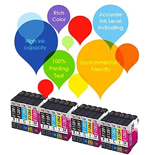 Starink 128XL - Cartuchos de tinta compatibles para Epson Stylus S22 SX125 SX420W SX425W SX235W SX130 SX435W SX230 SX440W Stylus Office BX305F BX305F BX305F FW (15 unidades) paquete).