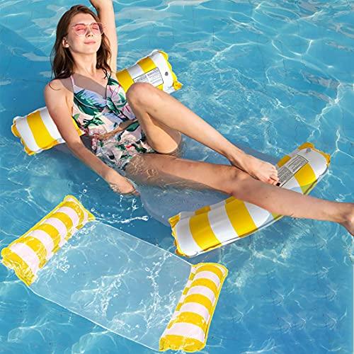 浮き輪 フロート Hoomoi 大人用 浮き輪ベッド 水上ハンモック ウォーター ハンモック フローティング ベッド マット ボート 水遊び 大人子供 親子 海水浴/日光浴/水遊び 130x70cm 暑さ対策 背もたれ付浮き輪 底面メッシュ素材 ロッキング