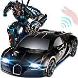 Modelo de coche 1:24 Transformar RC inducción Deformación del robot de coches, juguetes Traansfoormers Robot muro de escalada de coches giratoria 360º con un simple botón de función de deformación y d