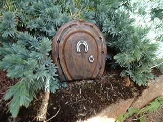 The Magical Doorway Small Horseshoe Fairy/Hobbit Door Ideal For Gardens And Bottom Of Trees