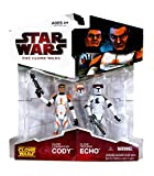 Star Wars - The Clone Wars - Double-pack : Cody & Echo - (Hasbro)