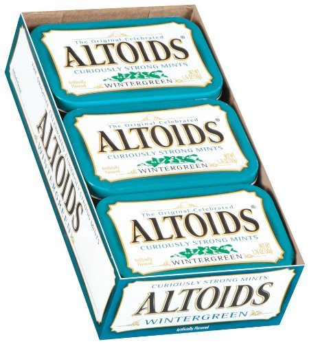 Altoids Wintergreen Candy 176oz Tin Container 12 Containers/box