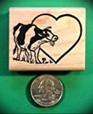 Rubber Stamps Cow Stamp, for Teaching Card Making, DIY Crafts, Scrapbooking...