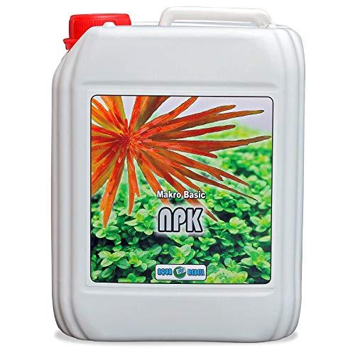 Aqua Rebell ® Makro Basic NPK Dünger - 5 Literflasche - optimale Versorgung für Ihre Aquarium Wasserpflanzen - Aquarium Dünger speziell für Wasserpflanzen entworfen