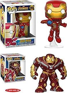 Funko POP! Avengers Infinity War: Iron Man + Hulkbuster 6 Inch – Marvel Stylized Vinyl Bobble-Head Figure 2 Character Bundle Set NEW