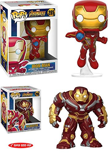 Funko POP! Avengers Infinity War: Iron Man + Hulkbuster 6 Inch – Marvel Stylized Vinyl Bobble-Head Figure 2 Character Bundle Set NEW