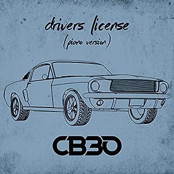 drivers license (piano version)