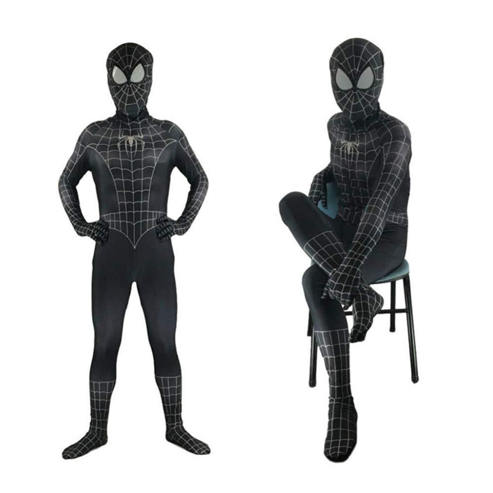 QXMEI Spiderman Negro Cosplay Medias De Anime Disfraz De Actuación ...