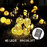 Solar Luces Decorativas 40 LED 8M/26.3FT Impermeable...