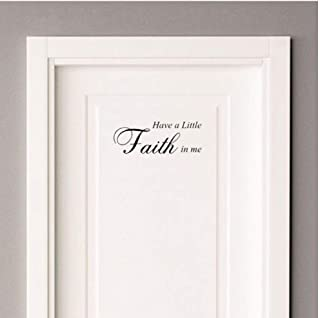 Zjzxzc Have A Little Faith In Me God Door Decal Wall Sticker Graphical 25 * 9.1CM
