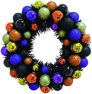 Season Treasure 16inch Halloween Eyeball Wreath, Eyeball Wreath, Halloween Wreath, Ball Wreath, Front Door Wreath (Assorted No.1)