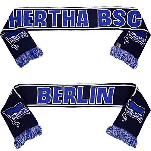 Hertha BSC Berlin Glitzereffekt Schal Fanschal Scarf (one Size, schwarz/blau)