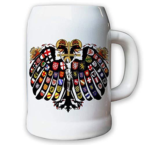 Caraffa/boccale di birra 0,5L–quaternione Aquila doppelkoepfiger Aquila Sacro Romano Impero fuerstentuemer staende Jost David de negker Stemma # 9427K
