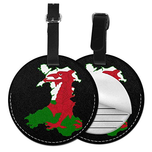 Wales Flag Map Round Luggage Id Tag Stylish Luggage Tags Label Suitcase Carry-on Baggage Bags Travel Accessory