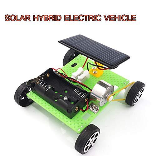 YQYJX Solar-Hybridauto Modell Wissenschafts-Kit Manueller Montageversuch Kreatives Wissenschaftsspielzeug