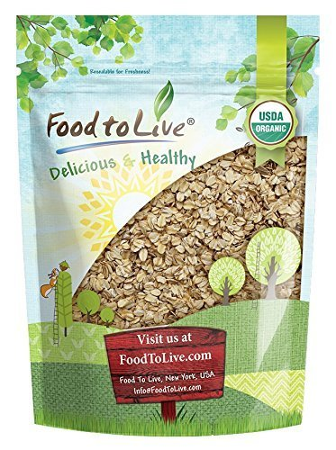 Organic Rolled Oats, 1 Pound - Old-Fashioned, 100% Whole Grain, Non-GMO, Kosher, Bulk, Product of the USA