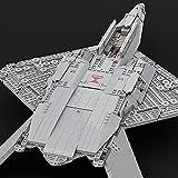 Juguetes Bloques Construcción Aviones Combate de Ingeniería, 2133 Piezas YF-23 Kits Modelo Militar Avión Combate Black Widow II, Juguetes Construcción MOC Compatibles con Lego