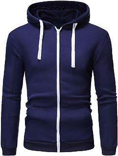 Men's Hooded Jacket Slim Fit Modern Men's Hoodie Sports Jacket Winter Jacket Long Sleeve Cardigan Pocket Casual Sweatshirt...