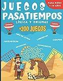 Juegos Pasatiempos Lógica y enigmas: Para niños 7-10 años - Más de 200 juegos - Rompecabezas, enigmas, logicà, sopas de letras, laberintos, sudokus y más. Un regalo ideal para los niños.