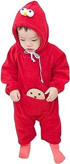 Unisex Baby Winter Autumn Flannel Hooded Romper Cosplay Jumpsuit Hoodie 3-24M