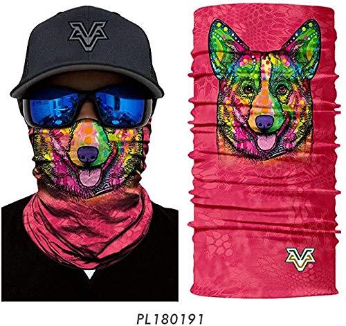 Stofdicht sjaal bandana's 3D Naadloze sjaal hoofdband Leuk dier halssjaal Hond Kat Tulband Magic sjaal Fietsen Ski Magic Bandana,B