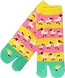 Women's Japanese Pattern 2-Toe Flip-Flop Tabi Ankle Socks, Crested Ibis Family -  Kyoyu.co,.Ltd