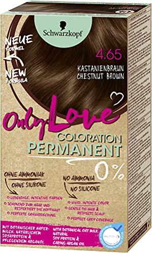 Schwarzkopf Only Love Coloration, Haarfarbe 4.65 Kastanienbraun, 143 ml