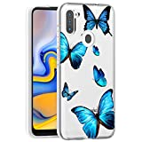 Zoeirc Galaxy A11 Case, Samsung A11 Case Clear Case for Girls Women, Soft TPU Shockproof Protective Transparent Phone Case Cover for Samsung Galaxy A11 (Butterfly)