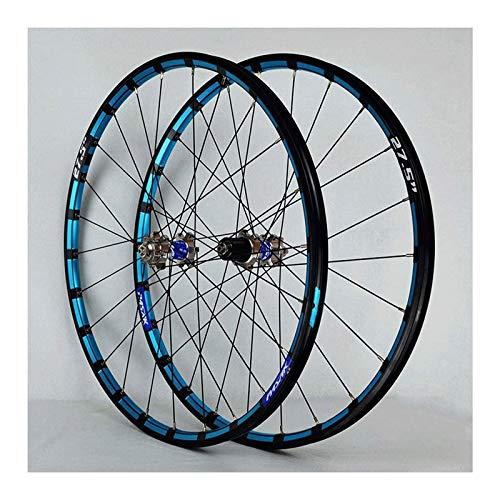 YQQQQ Ruedas de Bicicleta de Montaña 26/27,5 Pulgadas, Llanta MTB, Freno de Disco de 24 Orificios, 11 Velocidades (Color : Silver, Size : 27.5inch)