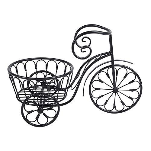 Zerone Pflanzenregal Fahrrad,Pflanze Blumentöpfe Display Rack aus Eisen Fahrrad Blumenregal Balkon Wohnzimmer Schlafzimmer Indoor Outdoor